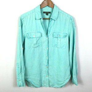 Tommy Bahama Womens Linen Button Down Shirt XS